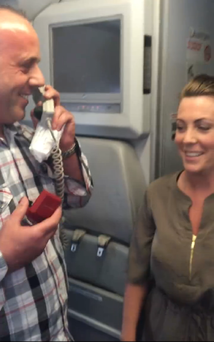 The man proposed on an Aerlingus flight to Lanzarote from Cork