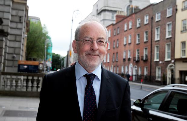 Professor Patrick Honohan,Governor of the Central Bank arriving for the Oireachtas Banking Inquiry meeting at Leinster House yesterday.Pic Tom Burke 25/6/2015