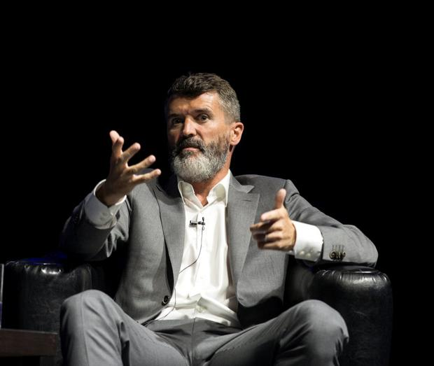 25/6/15 Roy Keane being interviewed by Matt Cooper at Barrettstown Talks at the Olympia Theatre in Dublin. Picture: Arthur Carron