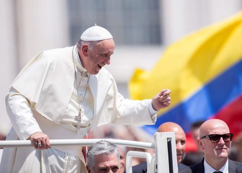 Pope Francis warned about the threat posed by climate change to the human race (AP Photo/Riccardo De Luca)