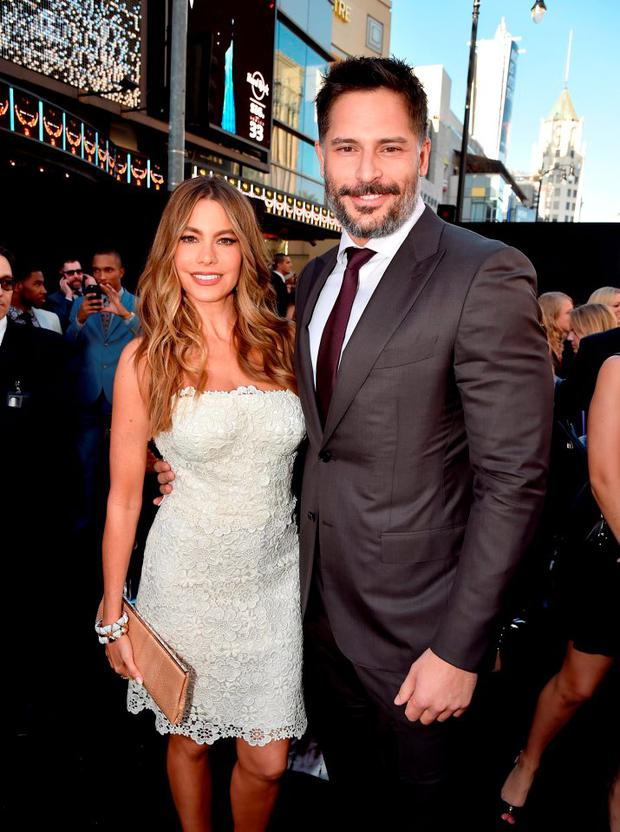 Actors Sofia Vergara (L) and Joe Manganiello attend the premiere of Warner Bros. Pictures'