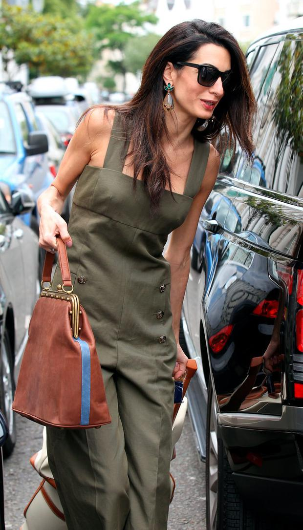 Amal Clooney seen in Notting Hill beofre heading to the airport on June 25, 2015 in London, England. (Photo by Neil Mockford/Alex Huckle/GC Images)