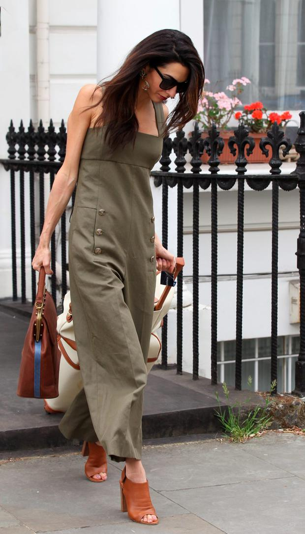 Amal Clooney seen in Notting Hill before heading to the airport on June 25, 2015 in London, England. (Photo by Neil Mockford/GC Images)
