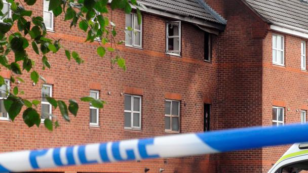 Three children killed in a house fire, as three members of the same family will appear in court today charged with murdering two teenagers and a baby who died in a house fire Credit: Davie Higgens/PA Wire