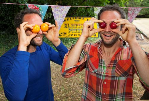 Brothers David & Stephen Flynn from The Happy Pear will be demoing some of their delicious vegan recipes at the Theatre of Food to help Picnickers with an easy and fun approach to healthy eating! Picture: Tony Kinlan.