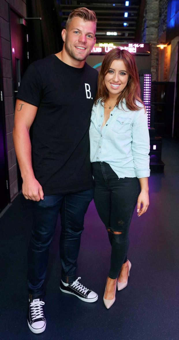 Jordi Murphy and Lottie Ryan pictured at the launch of 3Plus,Three`s exciting newrewardsprogramme in Bar Neon, 3Arena