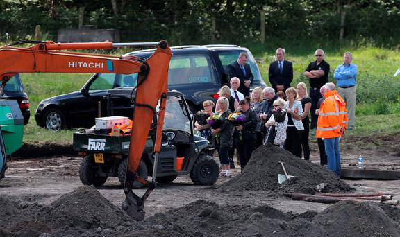 The bodies of Seamus Wright and Kevin McKee were recovered from a shallow grave on reclaimed bogland in June, during a dig to find a third man killed and disappeared by the Provos