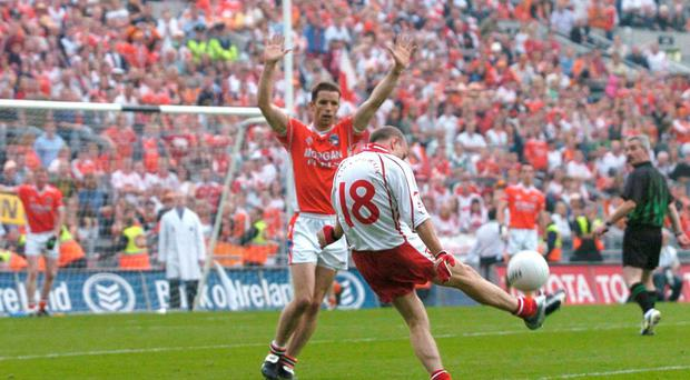 In the All-Ireland semi-final in 2005, Brian McGuigan and Sean Cavanagh came over and said 'you have to hit this'