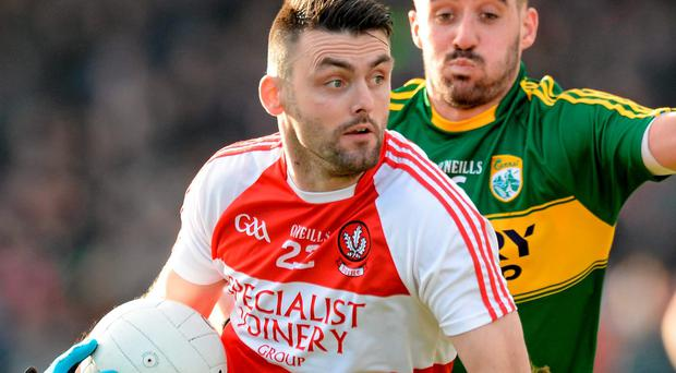 'I don't think they will leave Eoin Bradley (pictured) in there to let him be swallowed up. I think they will want to get him on the ball and let him get a few scores from outside the 'D''