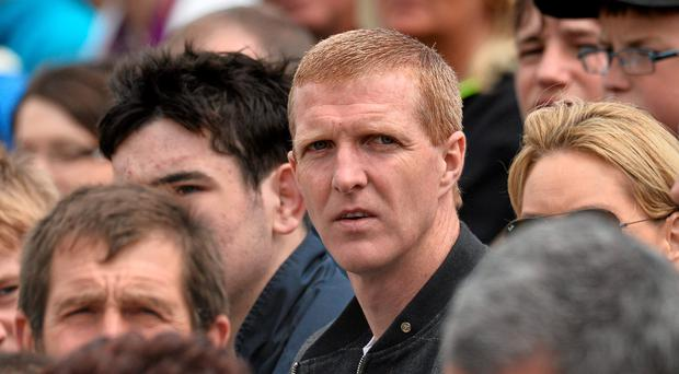 Henry Shefflin looks on as part of the crowd in Nowlan Park during Kilkenny's crushing victory against Wexford
