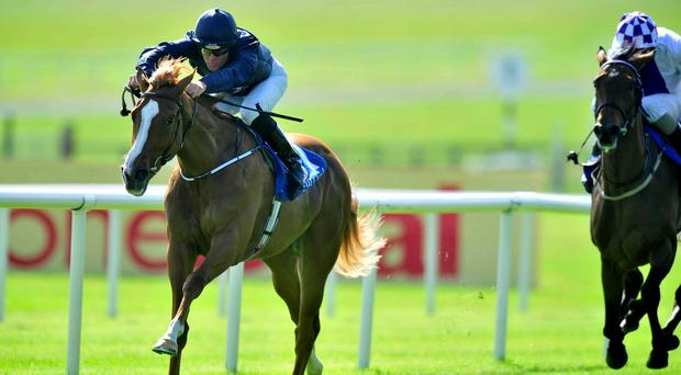 Alice Springs and Seamie Heffernan sail clear of their rivals in the opening juvenile fillies maiden at the Curragh to give Aidan O'Brien the pefect start to the Irish Derby Festival