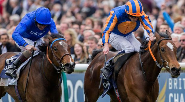 Legatissimo and Ryan Moore (right), here winning the Newmarket 1,000 Guineas, will be hard to beat in tomorrow's Pretty Polly Stakes at the Curragh