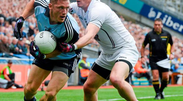 Dublin's Paul Flynn in action against Kildare's Emmet Bolton during their Leinster SFC clash in 2013. Dublin won that game 4-16 to 1-9
