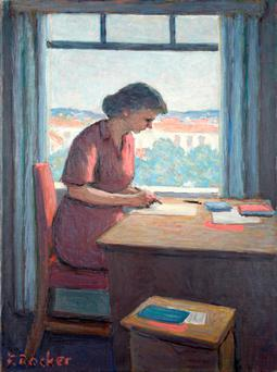 Fermin Rocker's Woman Writing