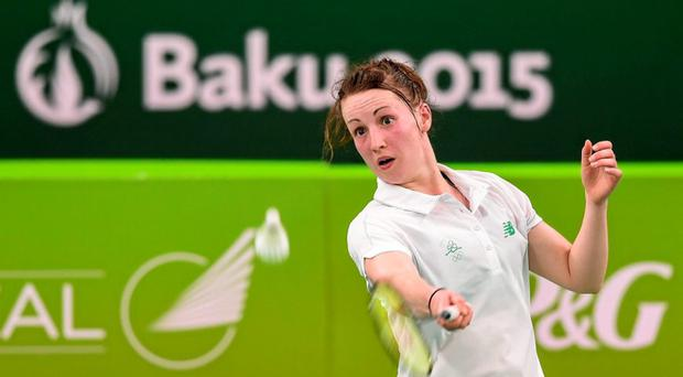 Chloe Magee in action in Baku