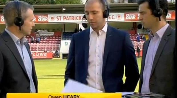 Owen Heary on Setanta last night