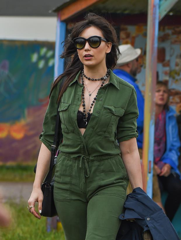 Daisy Lowe attends at the Glastonbury Festival at Worthy Farm, Pilton on June 26, 2015 in Glastonbury, England. (Photo by Samir Hussein/GC Images,)