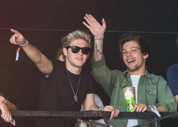 Niall Horan and Louis Tomlinson at Glastonbury