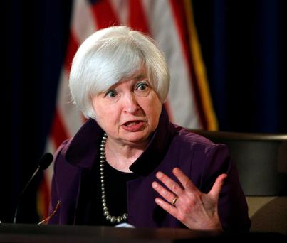 Fed chair Janet Yellen has stated that the US central bank will start raising rates, probably in September. Photo: Carlos Barria/Reuters