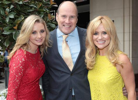TOP TEAM: Anna Daly, Ivan Yates and 'Xpose's' Karen Koster pictured at The Westbury Hotel for the launch of TV3's autumn schedule. Photo: Brian McEvoy