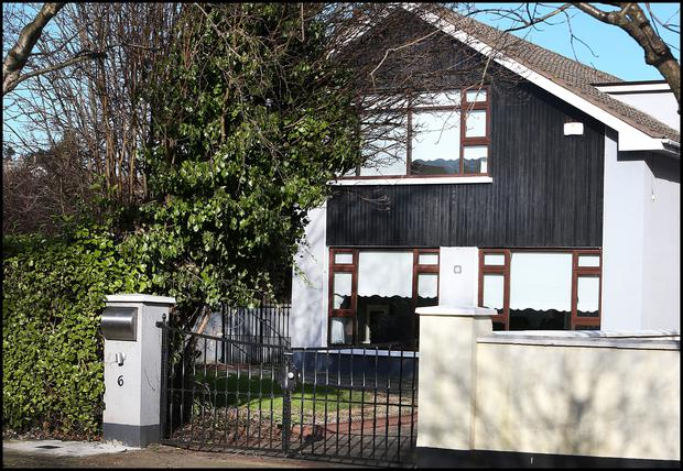 The house at Kerrymount Close in Foxrock where Dwyer lived with his wife and family