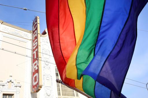 A rainbow flag flies in front of the iconic Castro Theater during a street celebration following the United States Supreme Court's landmark decision that legalized same-sex marriage throughout the country in San Francisco REUTERS/Elijah Nouvelage
