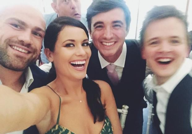 Wedding guest Michele McGrath shared a photo from the ceremony