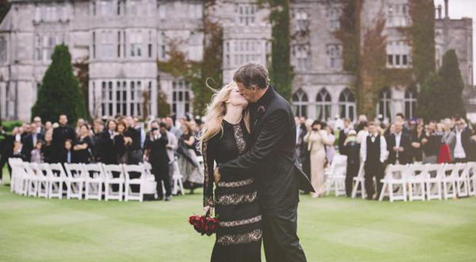 Tony pictured with his new wife Kathy in Adare Manor