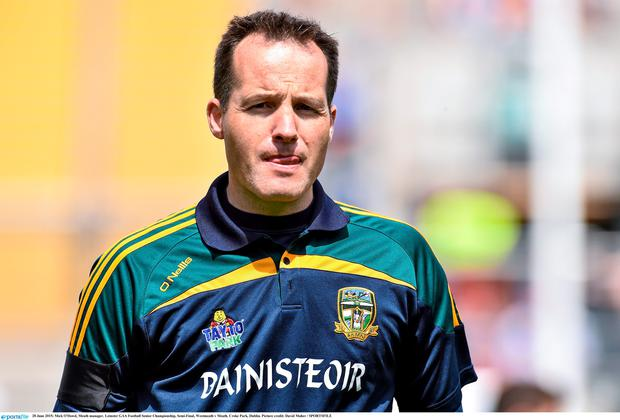 28 June 2015; Mick O'Dowd, Meath manager. Leinster GAA Football Senior Championship, Semi-Final, Westmeath v Meath. Croke Park, Dublin. Picture credit: David Maher / SPORTSFILE