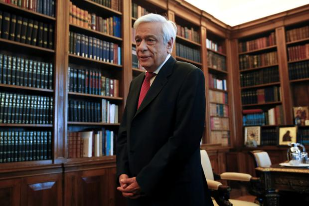 Greek President Prokopis Pavlopoulos waits before a meeting with former Greek conservative Prime Minister Antonis Samaras, leader of the opposition New Democracy party, at the Presidential Palace in Athens, Greece June 28, 2015. Europe's grand project to bind its nations into an unbreakable union by means of a common currency lurched into uncharted waters after EU governments refused funding to save Greece from defaulting on its debts. REUTERS/Alkis Konstantinidis