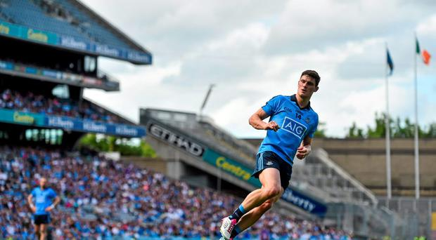 Dublin's Diarmuid Connolly watches his penalty go past substitute Kildare goalkeper Colin Heeney. Leinster GAA Football Senior Championship, Semi-Final, Dublin v Kildare. Croke Park, Dublin. Picture credit: Ramsey Cardy / SPORTSFILE