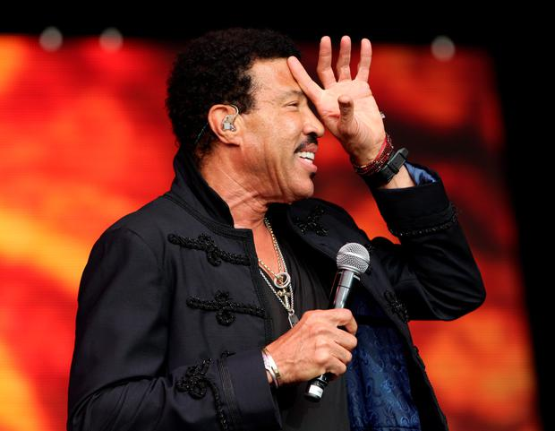 Lionel Richie performing on The Pyramid Stage during the Glastonbury Festival, at Worthy Farm in Somerset. Photo: Yui Mok/PA Wire