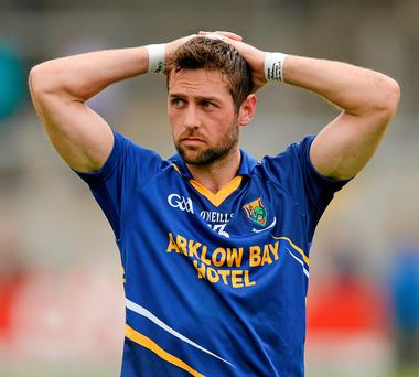 27 June 2015; Wicklow's Paul Cronin dejected after the game. GAA Football All-Ireland Senior Championship, Round 1B, Armagh v Wicklow. Athletic Grounds, Armagh. Picture credit: Piaras Ó Mídheach / SPORTSFILE