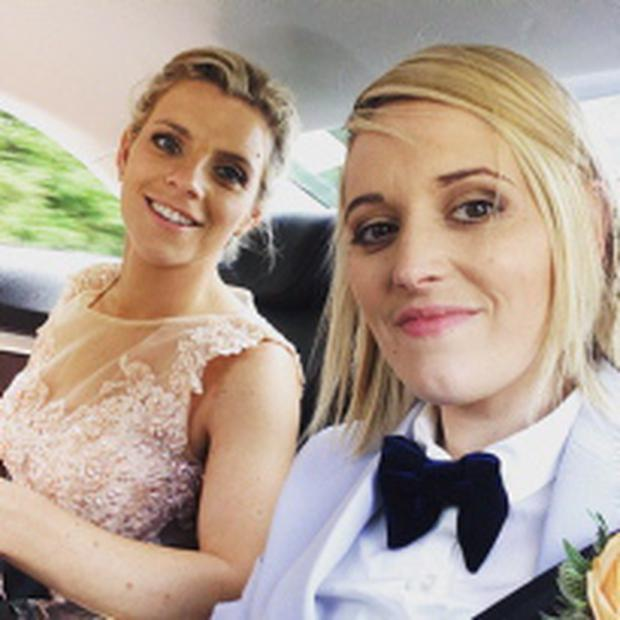 Valerie Mulcahy and Meg Blyth's civil partnership on Saturday June 27, 2015