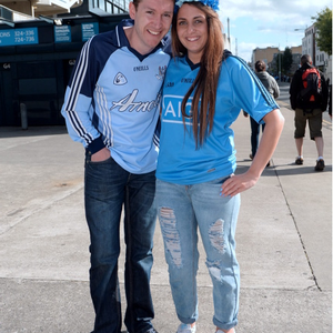 28 Jun 2015; Dublin fans Fergal Vaughan and Daniell Winters, from Rathfarnham. Leinster Senior Football championship semi-final, Dublin v Kildare. Croke Park, Dublin, Dublin. Picture: Caroline Quinn