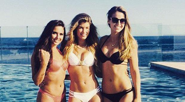 Nadia Forde, Amy Willerton and Vogue WIlliams in Ibiza