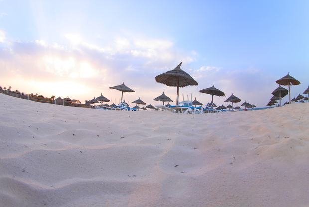 An empty Tunisian beach. File photo: Deposit