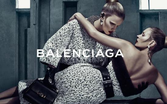 Kate Moss and Lara Stone for Balenciaga. Picture: Steven Klein