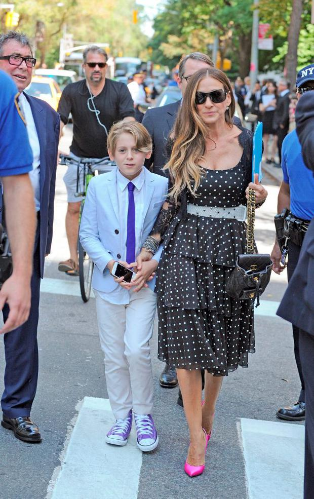 Actress Sarah Jessica Parker and her son, James Wilkie Broderick