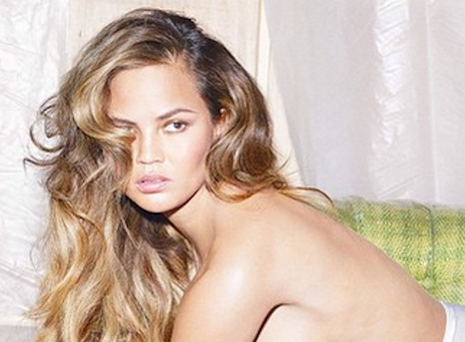 Chrissy Teigen posed topless for W Magazine. Picture: Instagram