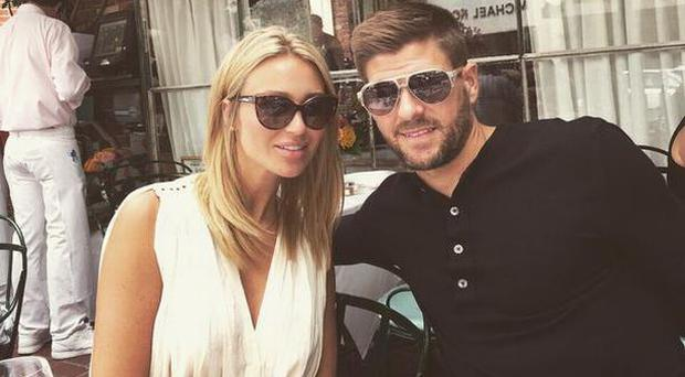 Alex and Steven Gerrard at The Ivy in LA. Picture: Alex Gerrard/Twitter