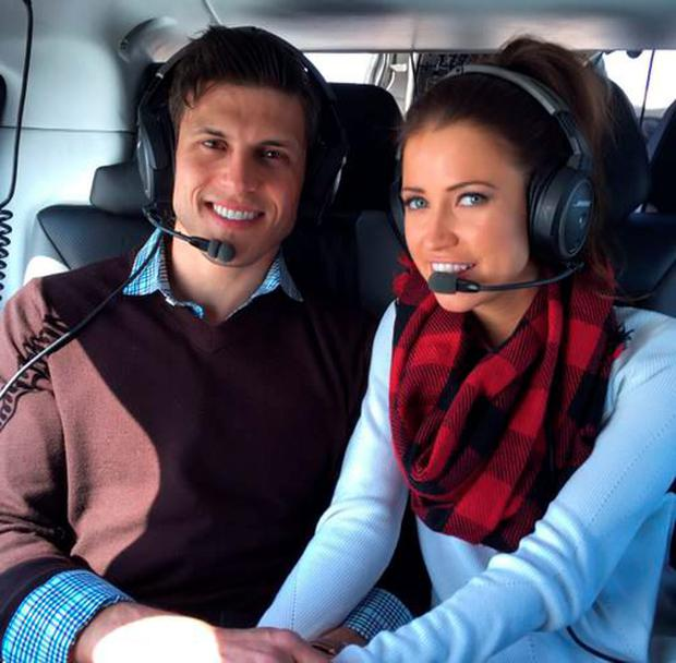 Chris Strandburg and Kaitlyn in a helicopter ride around the Cliffs of Moher