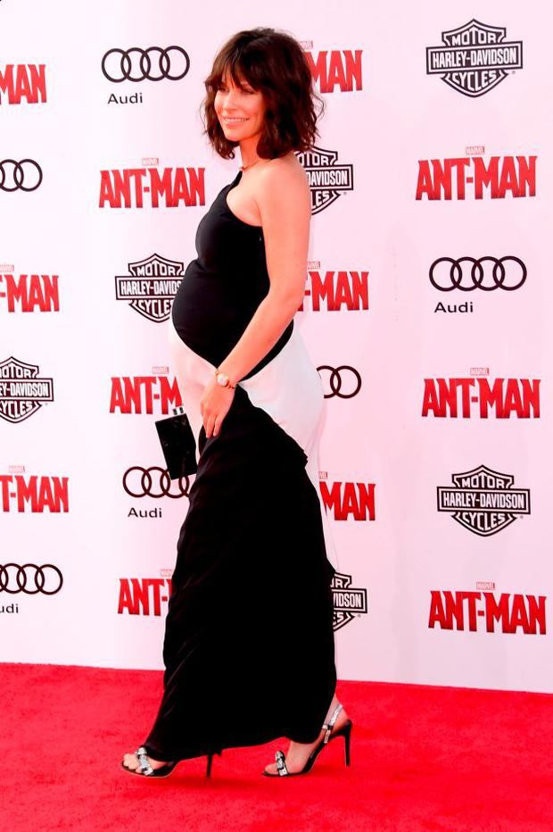 Actress Evangeline Lilly attends the premiere of Marvel's