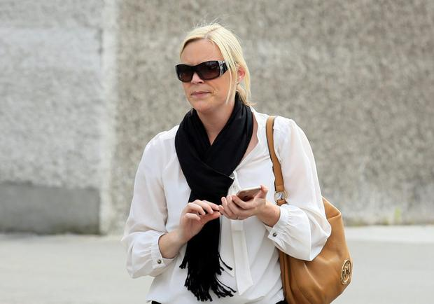 Garda Hilary Lynch, of Anglesea Street Garda Station, Cork, pictured leaving the Four Courts after she was awarded almost €90,000 damages following a High Court Garda Compensation hearing.Pic: Courts Collins