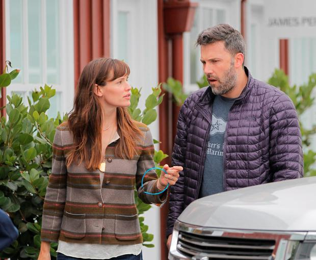 Jennifer Garner and Ben Affleck are seen in Brentwood on June 10, 2015 in Los Angeles, California. (Photo by Bauer-Griffin/GC Images)
