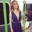 Amanda Byram took the tube to the Magic Mike premiere