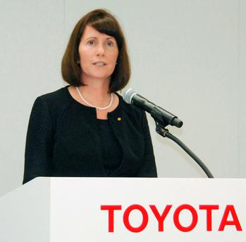 Toyota Motor Corp's Managing Officer and Chief Communications Officer Julie Hamp REUTERS/Kyodo/Files