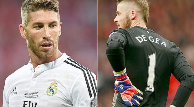 Swap shop: Sergio Ramos (left) and David de Gea (right) could he heading in opposite directions