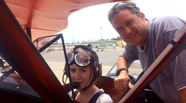 Collette Kenny (26) from Carrigallen in Co Leitrim who survived plane crash in California who claimed the life of pilot William Dalo (55) pictured right