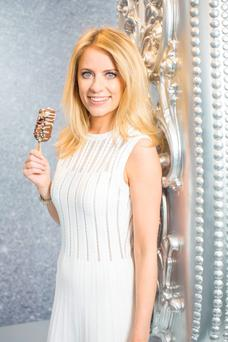 Sky Sports' Rachel Wyse Delivers Magnum Heaven to Arnotts in Dublin. Photo: Anthony Woods